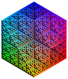 Sierpinsky-like 3D array